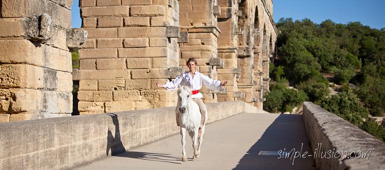 Baptiste et Mérou au Pont du Gard